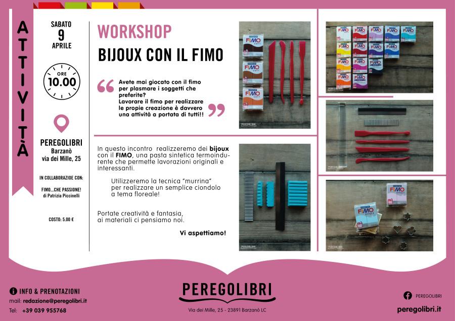 Workshop- Bijoux con il Fimo